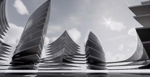 Proiect concept Smart City Flower of Life 07